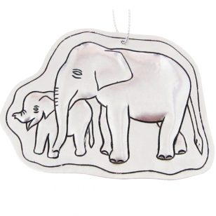 tin elephant and baby ornament