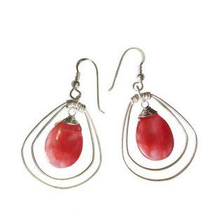 silver halo earrings