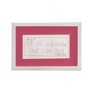 Be Still & Know Tin Frame