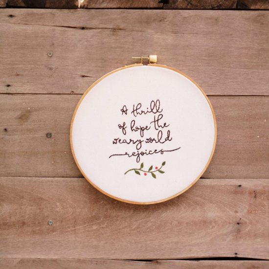 large embroidery hoop