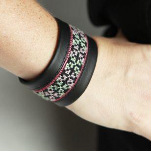 hmong leather bracelet