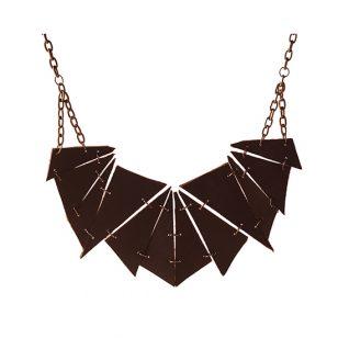 Leather Geometric Necklace