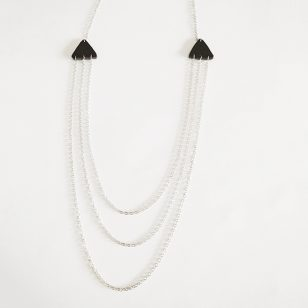 leather triple chain necklace