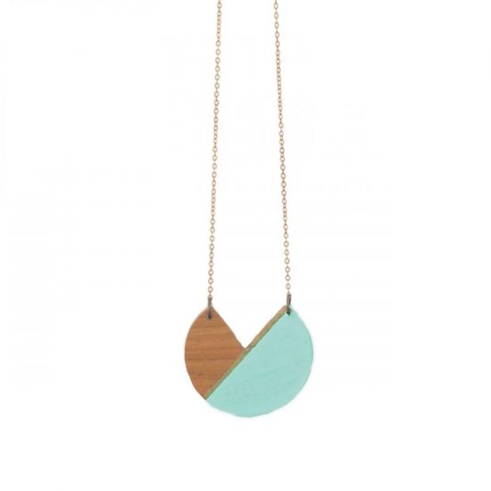 wooden sector necklace
