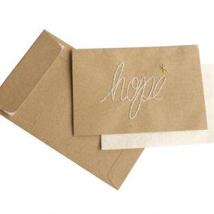 handstitched hope card