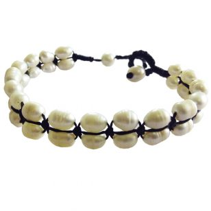 pearl row bracelet